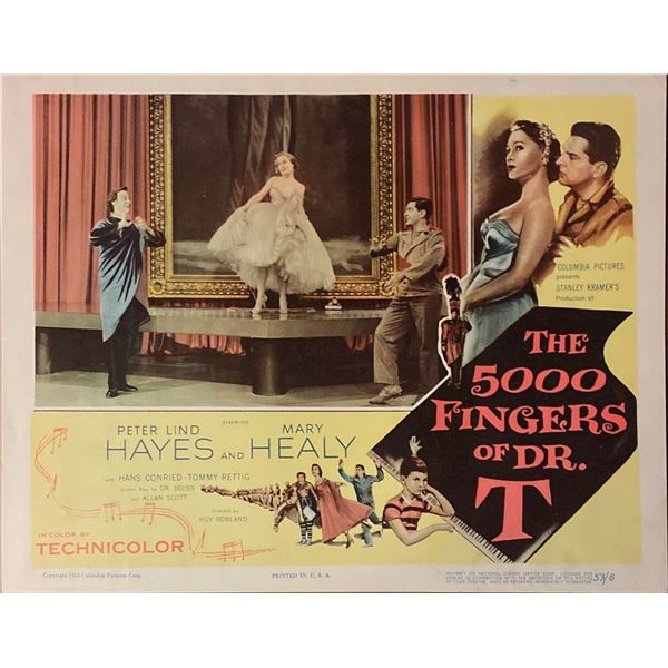 The 5,000 Fingers of Dr. T. original 1953 vintage lobby card