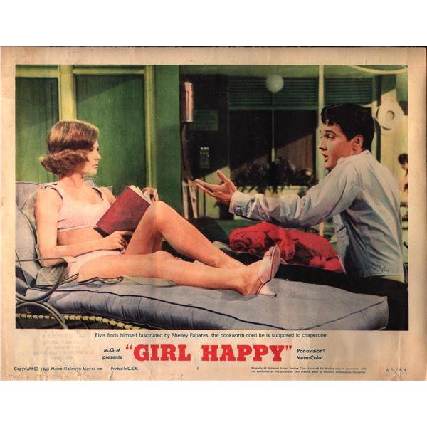 Girl Happy original 1965 vintage lobby card
