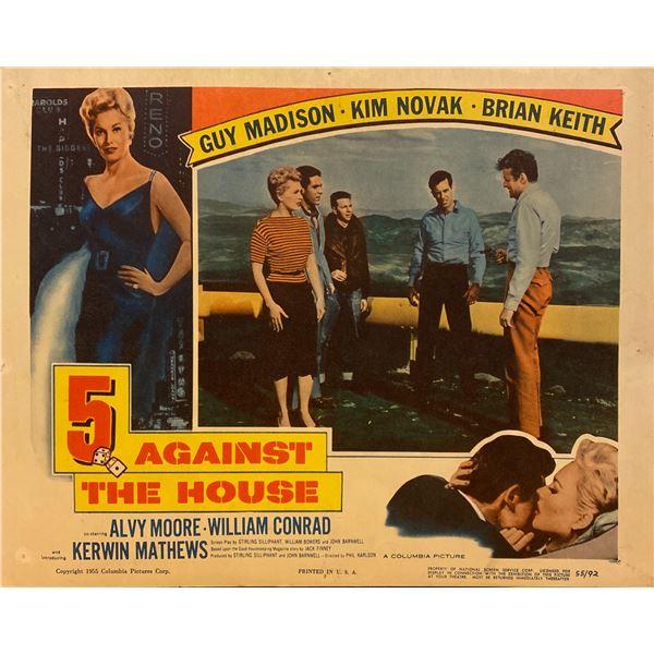5 Against the House original 1955 vintage lobby card