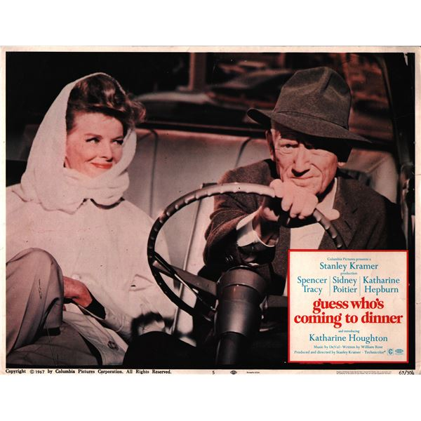 Guess Who's Coming to Dinner original 1967 vintage lobby card