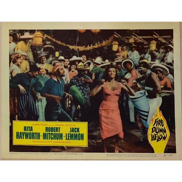 Fire Down Below original 1957 vintage lobby card