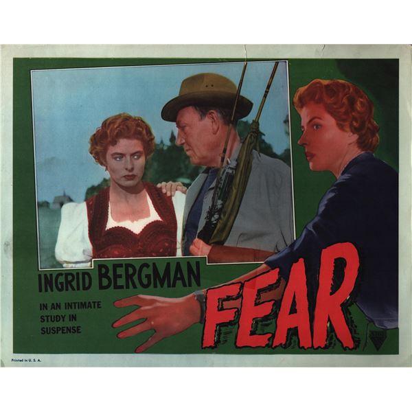 Fear original 1954 vintage lobby card