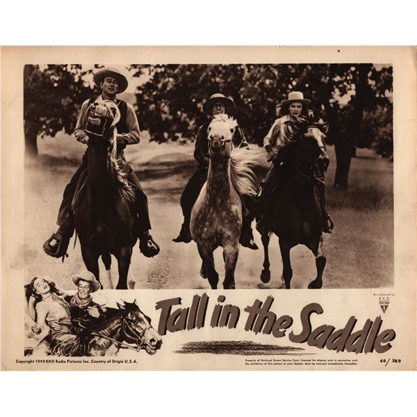 Tall in the Saddle original 1949 vintage lobby card