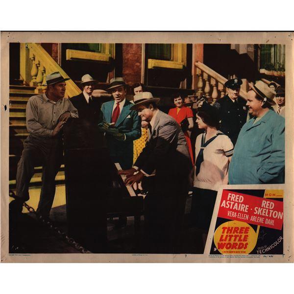 Three Little Words original 1950 vintage lobby card