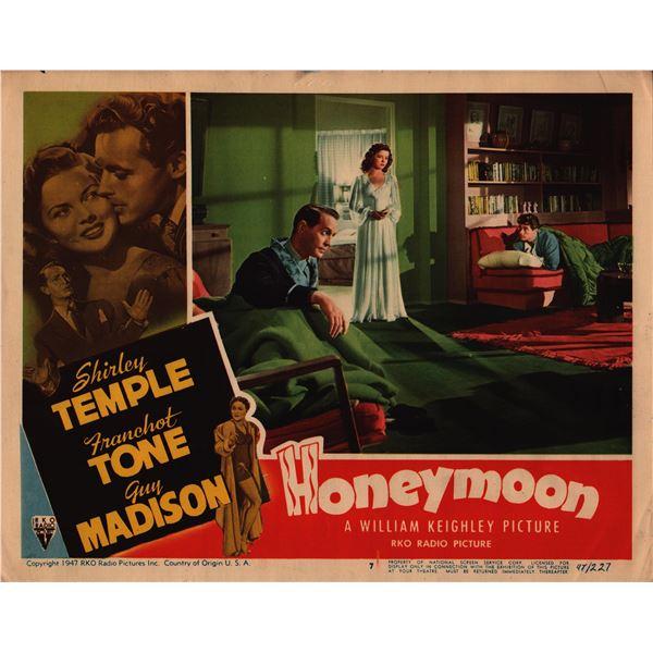 Honeymoon original 1947 vintage lobby card
