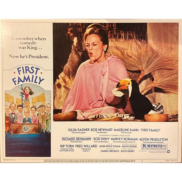 First Family original 1980 vintage lobby card