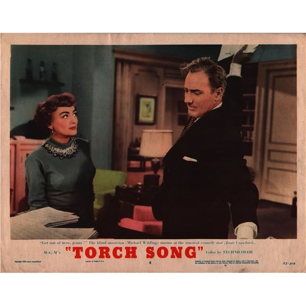 Torch Song original 1953 vintage lobby card