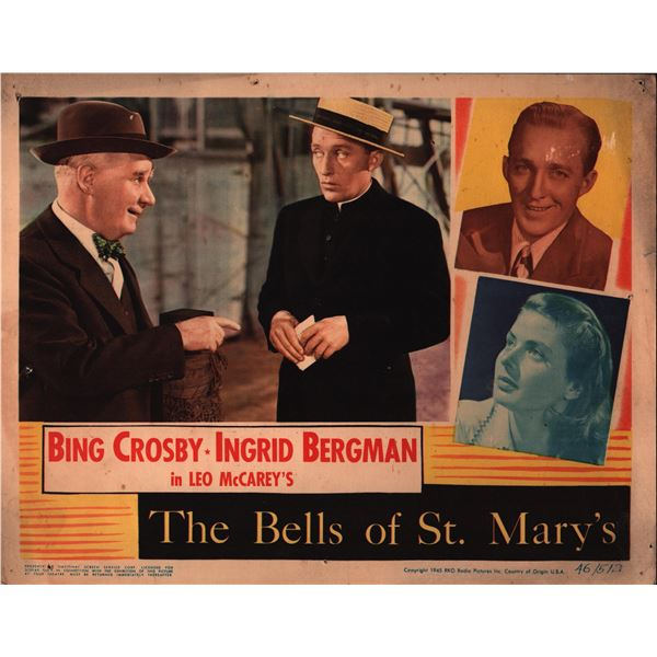 The Bells of St. Mary's original 1945 vintage lobby card