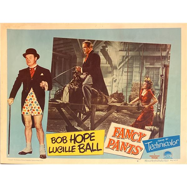 Fancy Pants original 1950 vintage lobby card