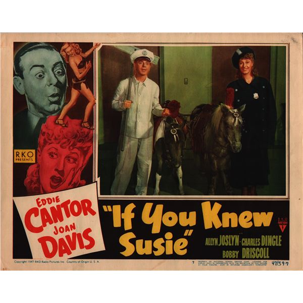 If You Knew Susie original 1947 vintage lobby card