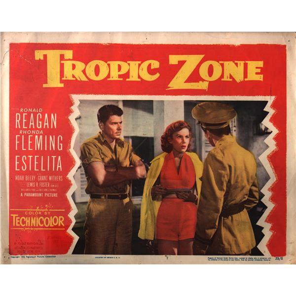Tropic Zone original 1952 vintage lobby card