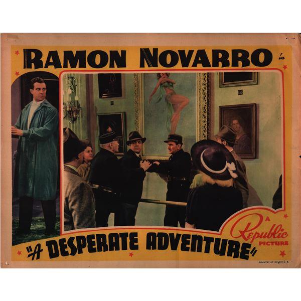A Desperate Adventure original 1938 vintage lobby card