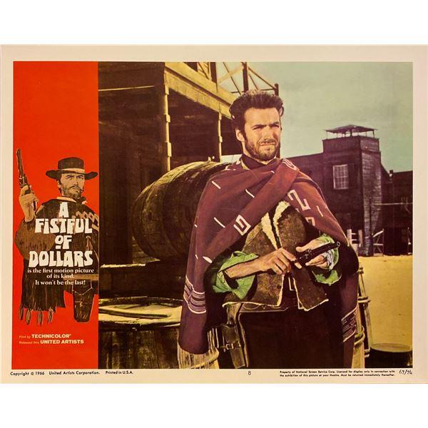 A Fistful of Dollars original 1966 vintage lobby card