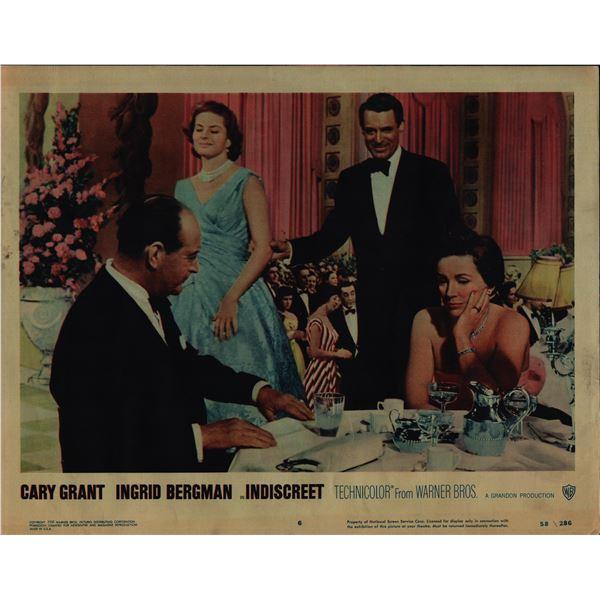 Indiscreet original 1958 vintage lobby card