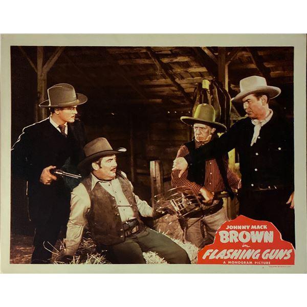 Flashing Guns original 1947 vintage lobby card