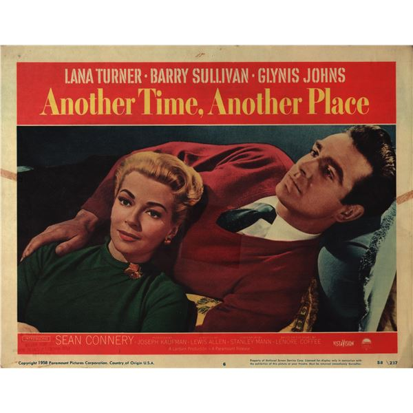 Another Time, Another Place original 1958 vintage lobby card