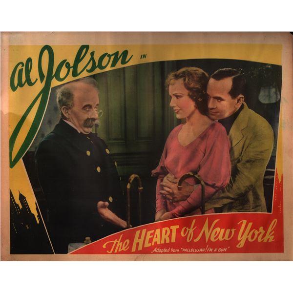 The Heart Of New York (Hallelujah, I'm a Bum) original vintage lobby card