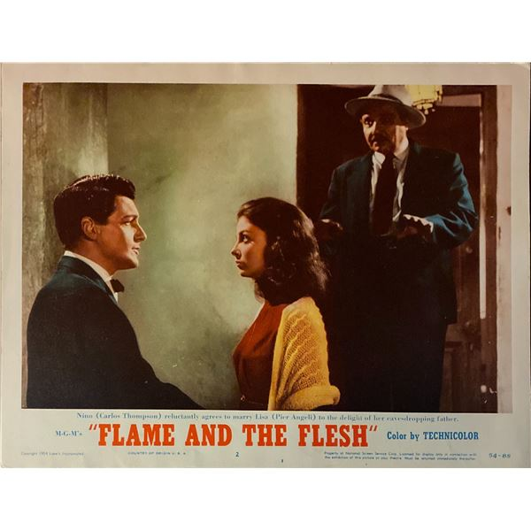 Flame and the Flesh original 1954 vintage lobby card