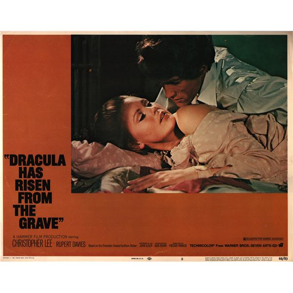 Dracula Has Risen from the Grave original 1969 vintage lobby card