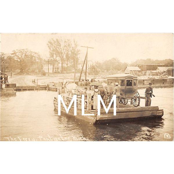 The Ferry, Pentwater, Michigan Photo Postcard