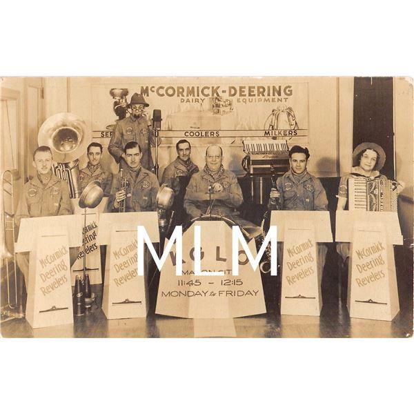 McCormick-Deering Revelers Band Mason City, Iowa Photo Postcard
