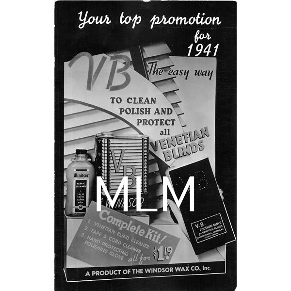 Promotion for 1941 Cleaning Blinds Advertising Hoboken, New Jersey Photo PC