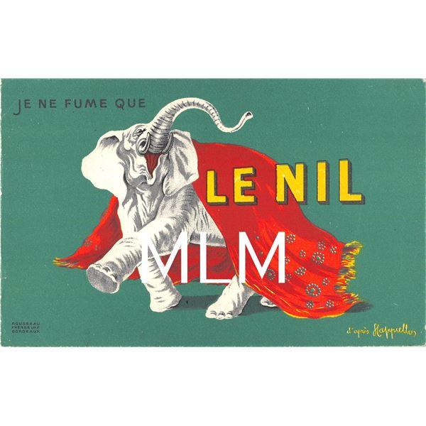 Elephant Le Nil French Cigarette Advertising Vintage Postcard
