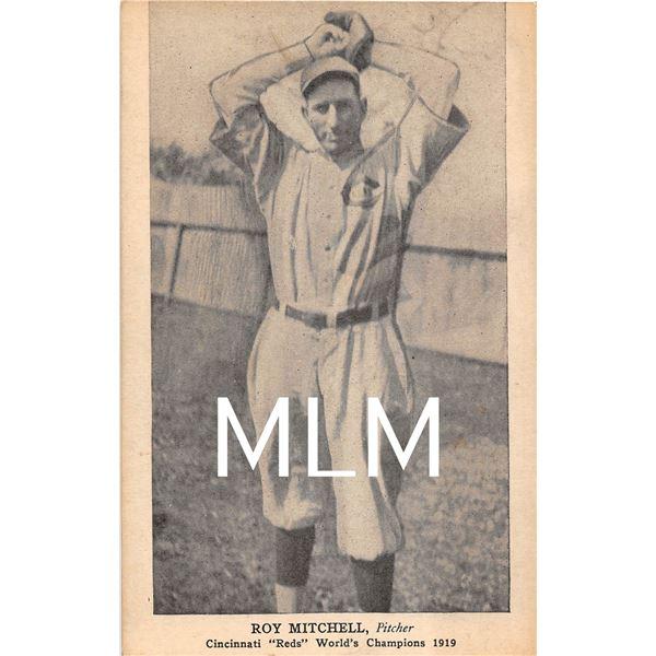 Baseball Pitcher Roy Mitchell Cincinnati  Reds  World's Champions 1919 Postcard