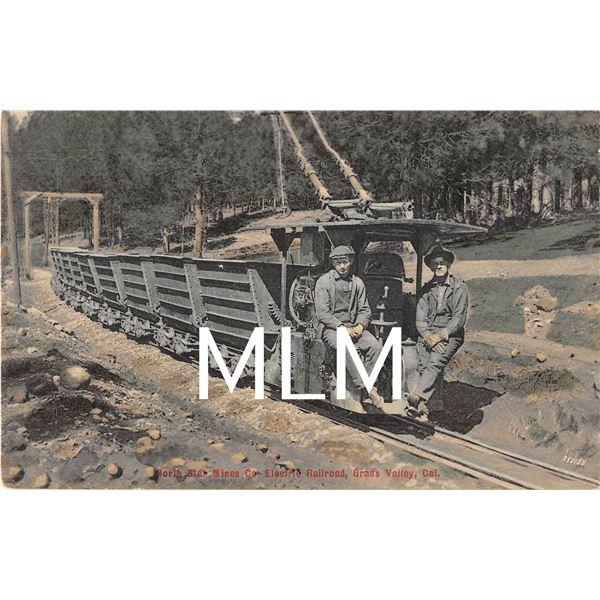 North Star Mines Co. Electric Railroad Grass Valley, California Postcard