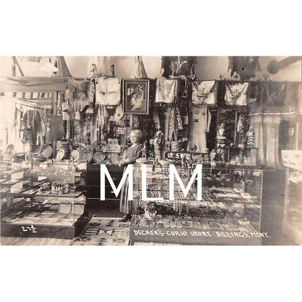 Decker's Curio Store Interior Billings, Montana Photo Postcard