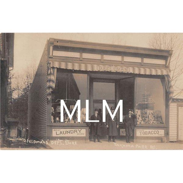 Feldman's Dept. Store Front Takoma Park, Washington D.C. Photo Postcard
