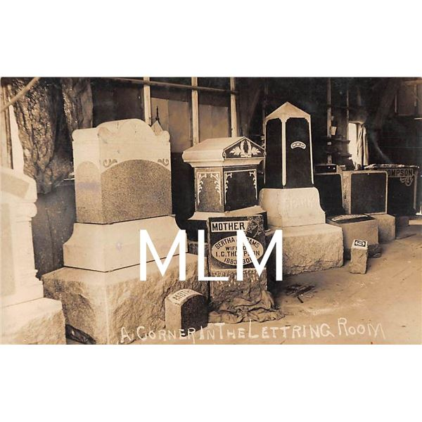 Iowa & Missouri, Granite & Marble CO. Burial Headstones Interior Bedford, IA Photo PC