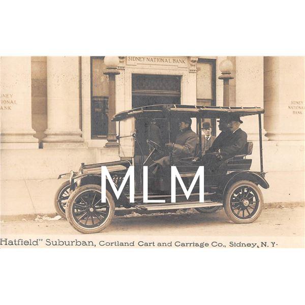 Hatfield Surburban Cortland Cart & Carriage Co. Auto Sidney, New York Photo PC
