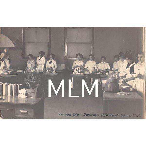 Domestic Science Department School Int. Ladies Cooking Auburn, Washington Photo PC