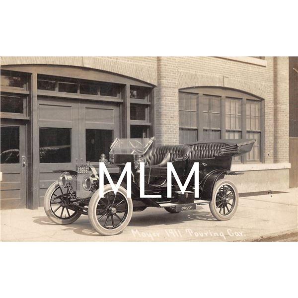 Automobile Advertising Moyer 1911 Touring Car Photo Postcard