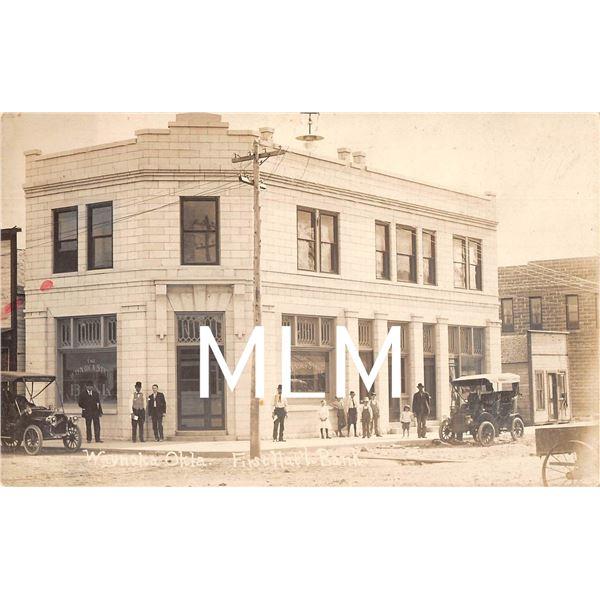 First National Bank Waynoka, Oklahoma Photo Postcard