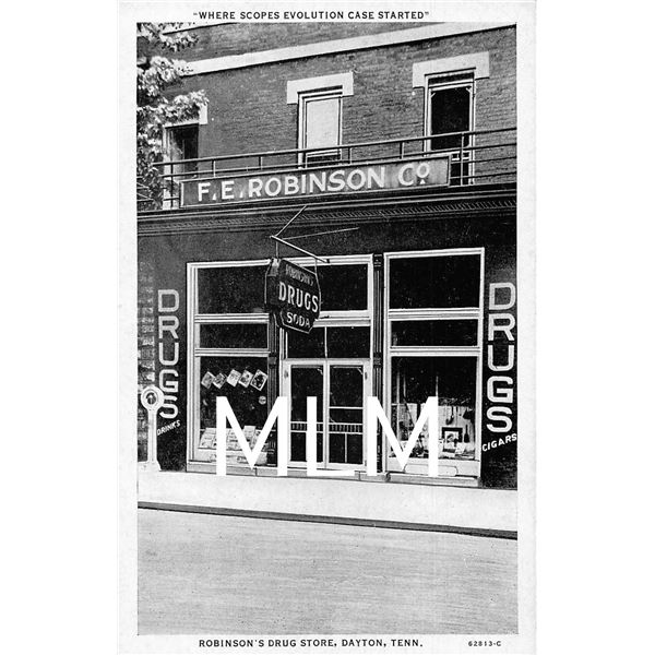 Robinson's Drug Store Front Dayton, Tennessee Postcard