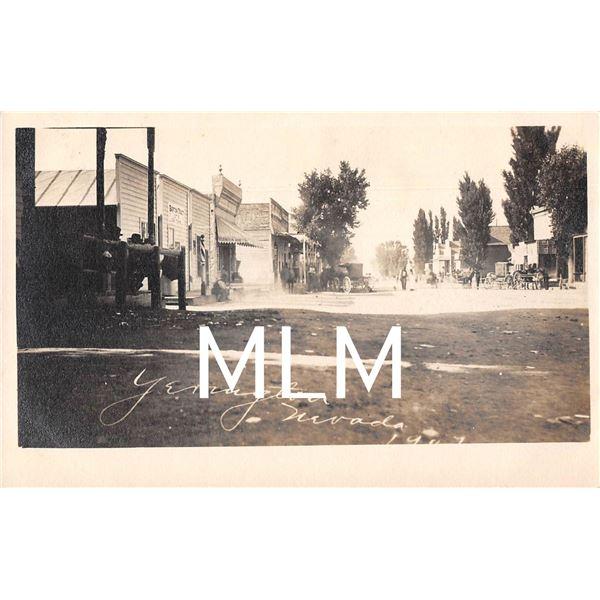 Main Street Yerington, Nevada Photo Postcard