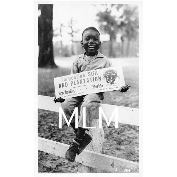 Turpentine Still & Plantation African American Boy Brooksville, Florida Photo PC