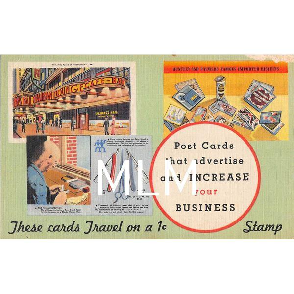 Linen Advertising Harry Baumann Postcards Increase your business PC
