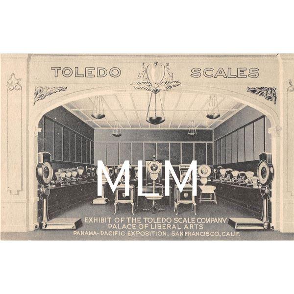 Toldeo Scales Exhibit Panama-Pacific Exposition San Francisco, California PC