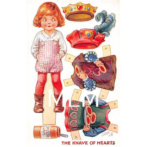 Set of 6 & Wrapper Tuck Nursery Rhymes Dressing Dolls Ser. 2 Paper Doll Postcards
