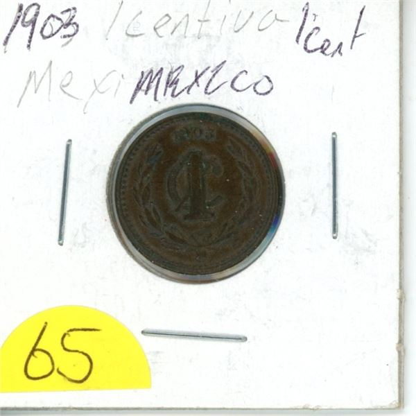 1903 Mexican penny