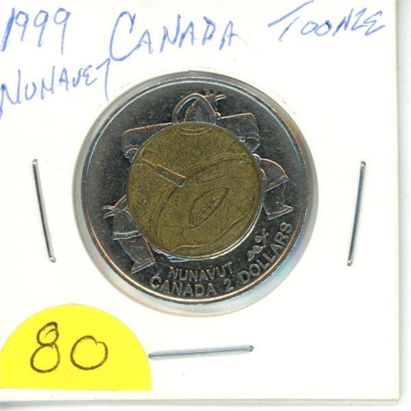 1999 Nunavut toonie