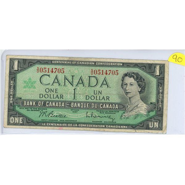 1967 $1.00 S/O 0514705