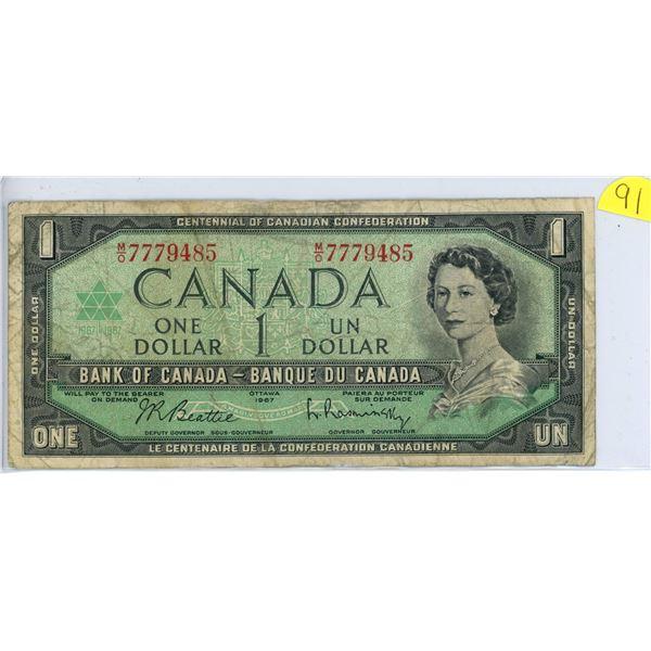 1967 $1.00 M/O7779485