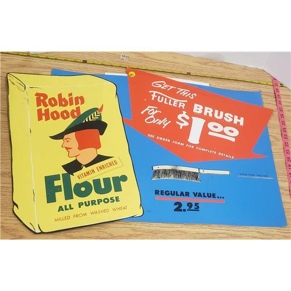 "Robin Hood Flour Card board Sign 26"" X 17"""