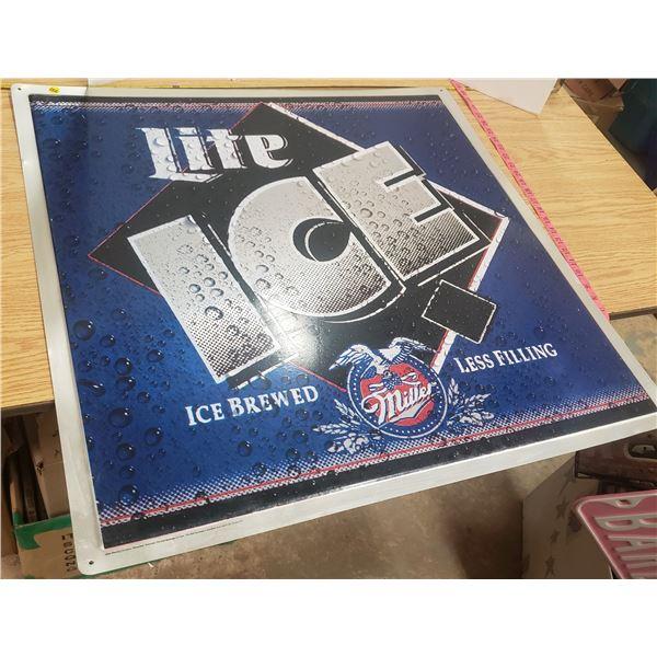 "Miller Lite Metal Sign 30"" X 24"""