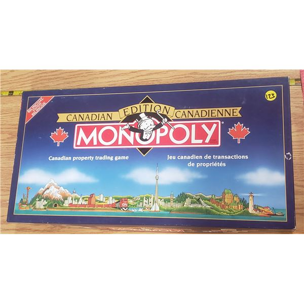 Canadian Monopoly board game Bilingual edition boardgame