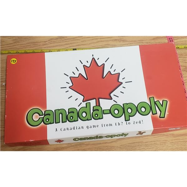 Canadian Monopoly board game boardgame